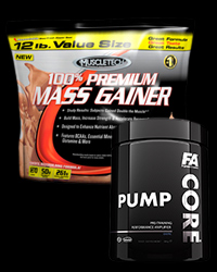 100% Premium Mass Gain / Core Pump - 30% от MuscleTech, FA Nutrition