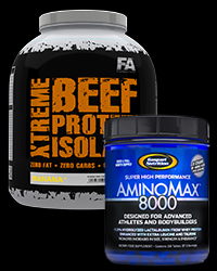 AminoMax 8000 + Xtreme Beef Isolate -30% от FA Nutrition, Gaspari Nutrition