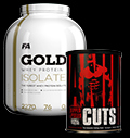 Animal Cuts / Gold Whey Isolate - 30% pentru diete