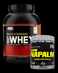 100% Whey Gold Standard 5 Lbs. / Xtreme Napalm - 30% от Optimum Nutrition, FA Nutrition
