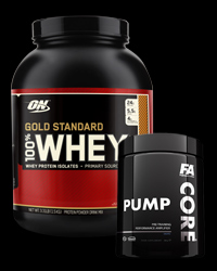 100% Whey Gold Standard 5 Lbs. / Core Pump - 30% от Optimum Nutrition, FA Nutrition