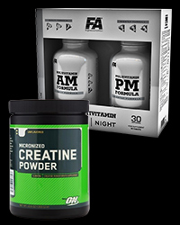 Creatine Powder / Multivitamin AM & PM Formula - 30% от FA Nutrition, Optimum Nutrition