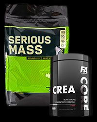 SERIOUS MASS / CORE Crea - 30% от Optimum Nutrition, FA Nutrition