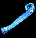 Light blue exercise band LONG  64 - 100 kg pentru diete