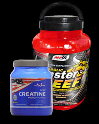 PROMO STACK Amix Monster Beef 5 Lbs. / Mex Creatine Monohydrate от AMIX, MEX