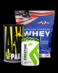 PROMO STACK MEX American Standard Whey / Animal Pak / MP Creatine от Universal Animal, Muscle Pharm, MEX