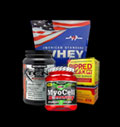 PROMO STACK MEX American Standard Whey / Amix Myocell / Scivation Xtend / Pharma Freak Ripped Freak pentru diete