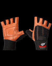 Fitness Gloves with Wrist support Brown от Armageddon Sports