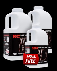 100% Egg Whites 2x1000ml + 1 500ml FREE от GERMA