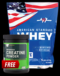 MEX American Standard Whey / ON Creatine Powder FREE от MEX, Optimum Nutrition