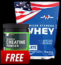 MEX American Standard Whey / ON Creatine Powder FREE pentru diete