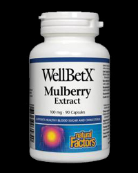 WellBetX Mulberry Extract 100 mg от Natural Factors