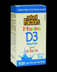 Vitamin D3 400 IU for Childern - Liquid от Natural Factors