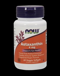 Astaxanthin 4 mg от NOW Foods
