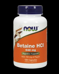 Betaine HCl 648 mg от NOW Foods
