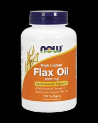 Flax Oil (High Lignan) 1000 mg от NOW Foods