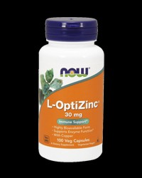 L-OptiZinc® 30 mg от NOW Foods