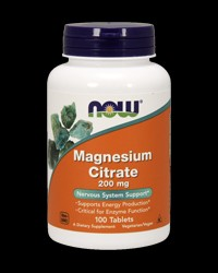 Magnesium Citrate 200 mg от NOW Foods