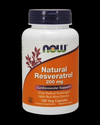 Natural Resveratrol /Mega Potency/ 200mg от NOW Foods