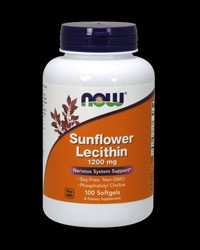 Sunflower Lecithin 1200mg от NOW Foods