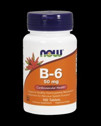 Vitamin B-6 (Pyridoxine) 50 mg от NOW Foods