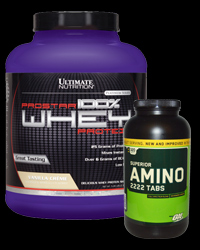 Prostar Whey 5lb + ON Amino 2222 320tabs FREE от Optimum Nutrition, Ultimate Nutrition