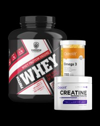 Whey Deluxe / + Creatine + Omega / 1+2 FREE от Swedish Supplements, OstroVit