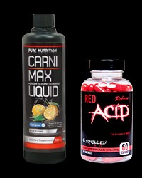 Carni-Max Liquid / Red Acid Reborn от Controlled Labs, PURE Nutrition USA