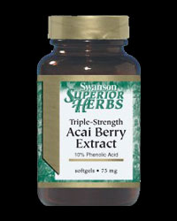 Triple Strength Acai Berry Extract 75 mg от Swanson