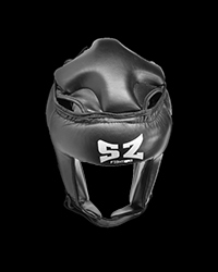 Muay Thai Helmet Black от SZ Fighters
