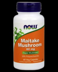 Maitake Mushrooms 60 mg от NOW Foods