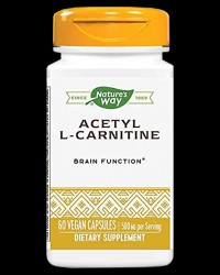 Acetyl L-Carnitine 500mg от Nature's Way