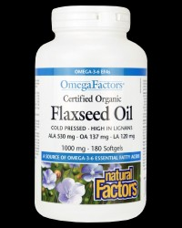 Certified Organic Flaxseed Oil от Natural Factors