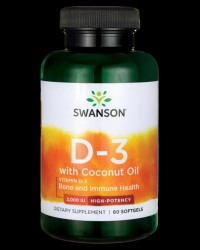 Ultra Vitamin D-3 With Coconut Oil 2000 UI от Swanson