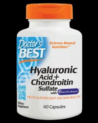 BEST Hyaluronic Acid + Chondroitin Sulfate / with BioCell Collagen от Doctor's Best