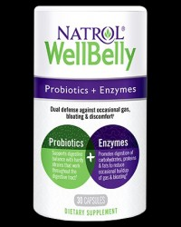 Well Belly Probiotics + Enzymes от Natrol