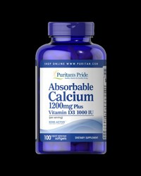 Absorbable Calcium 1200 mg with Vitamin D3 1000 IU от Puritan's Pride